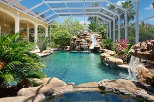 Home pictrue of pool area in Livingston Woods in Naples Florida