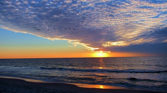 Naples Florida sunset at the beach