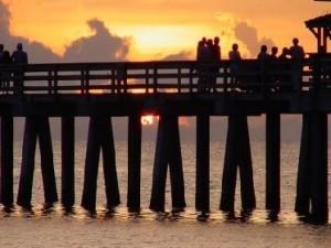 Naples FL Pier at Sunset